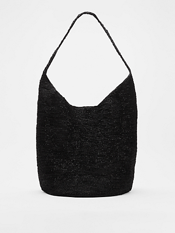 Mar Y Sol for EILEEN FISHER Crocheted Raffia Large Tote