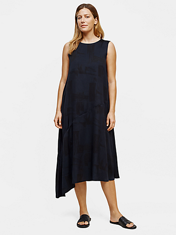 Silk Organic Cotton Brushstroke Dress