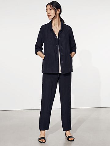 Puckered Organic Linen Jacket