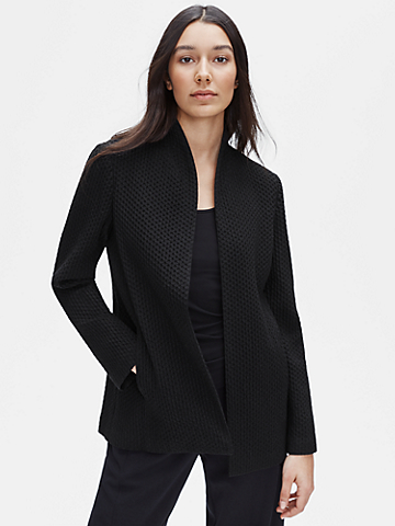 Tencel & Organic Cotton Honeycomb Shaped Jacket