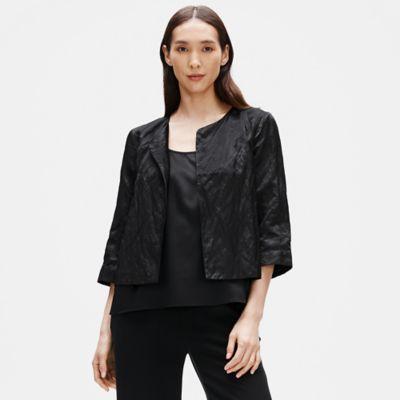 Organic Cotton Satin Steel Short Jacket