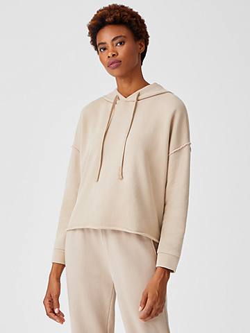 Organic Cotton French Terry Short Hoodie