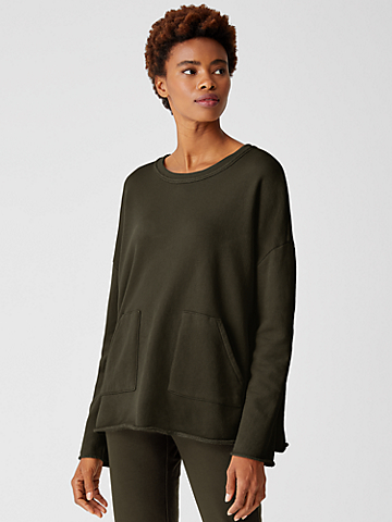 Organic Cotton French Terry Boxy Tunic