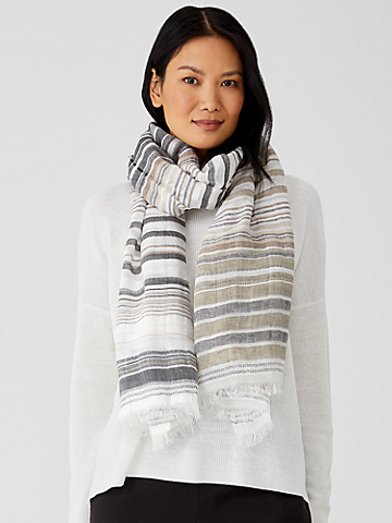 Airy Striped Scarf