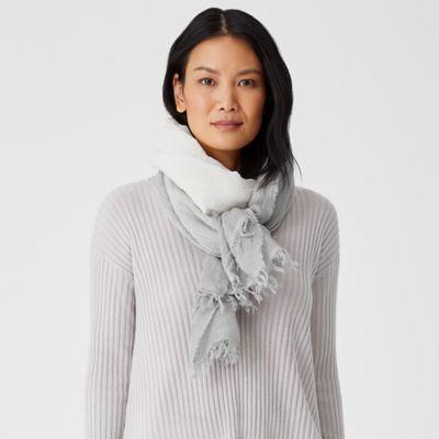 Organic Linen Cotton Ombre Scarf