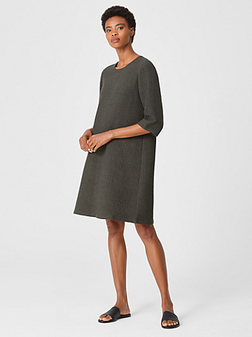Textured Cotton Ripple Dress