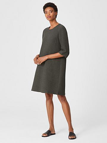 Textured Cotton Ripple Dress