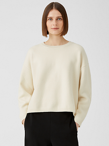 Merino Crew Neck Box-Top