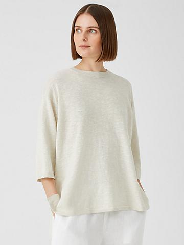 Organic Cotton Linen Slub Top
