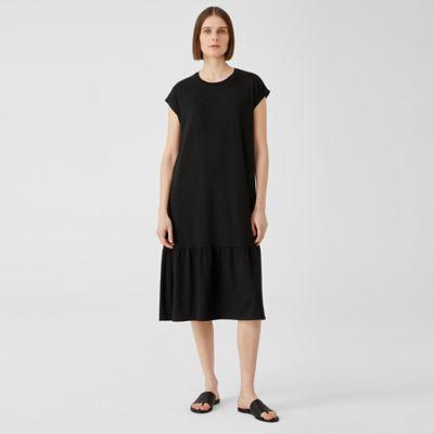 Fine Jersey Shirred Dress