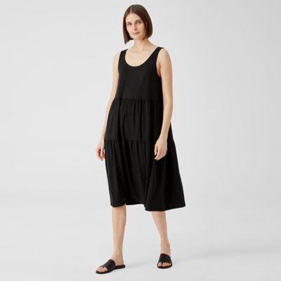 Fine Jersey Tiered Dress