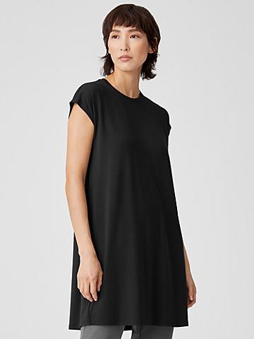Fine Jersey Cap-Sleeve Dress