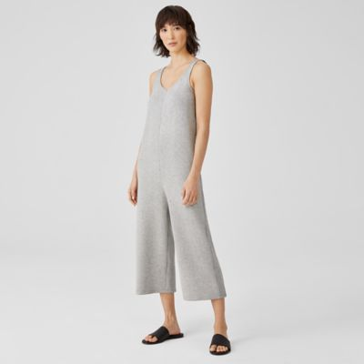 Cozy Brushed Terry Cropped Jumpsuit