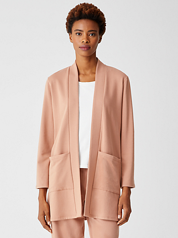 Cozy Brushed Terry Long Jacket