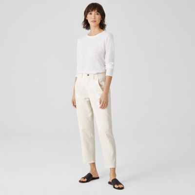 Undyed Organic Cotton Stretch Ankle Jean