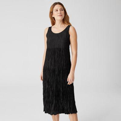 Crushed Silk Habutai Tiered Dress
