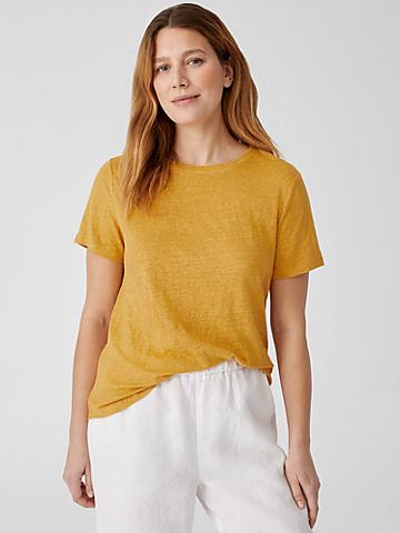 Organic Linen Jersey Short-Sleeve Tee