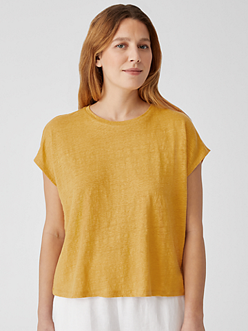 Organic Linen Jersey Square Top