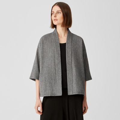 Striated Cotton Blend Jacket