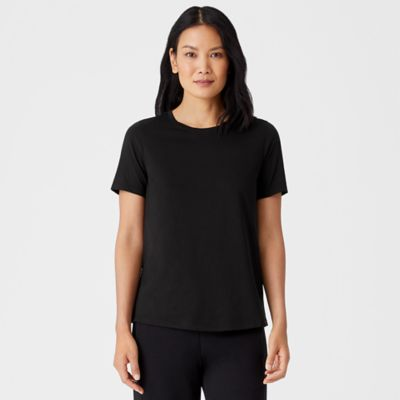 Organic Pima Cotton Jersey Short-Sleeve Tee