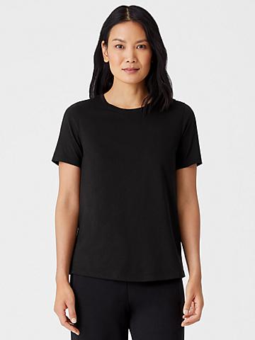 Organic Pima Cotton Jersey Short-Sleeve Tee