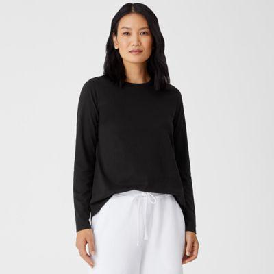 Organic Pima Cotton Jersey Long-Sleeve Tee