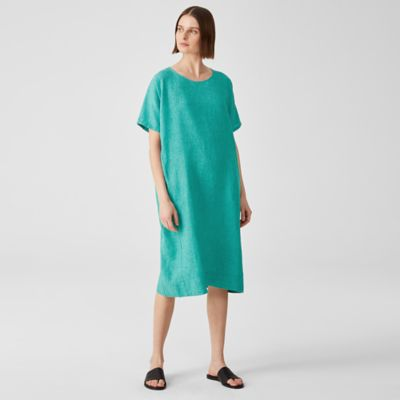 Washed Organic Linen Delave Dress