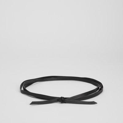 Buttery Leather Skinny Wrap Belt