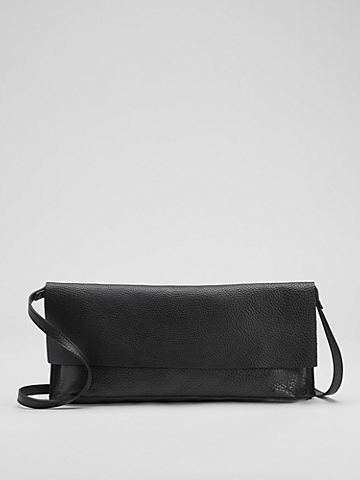 Grainy Italian Leather Convertible Crossbody Bag