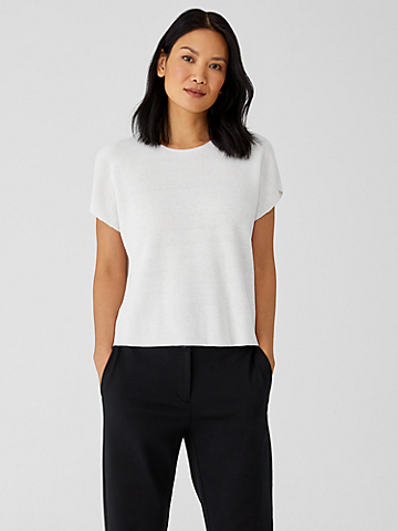 Organic Linen Cotton Square Top