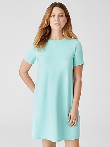 Traceable Organic Cotton Jersey Crew Neck Dress