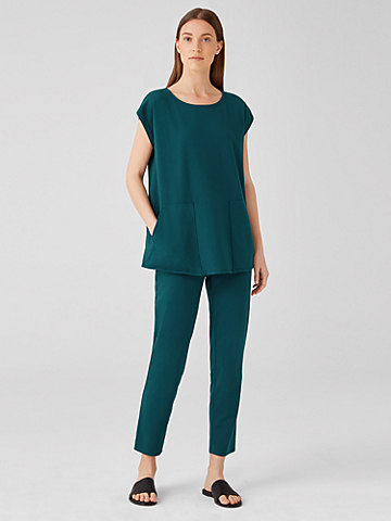 Traceable Organic Cotton Jersey High Waisted Pant