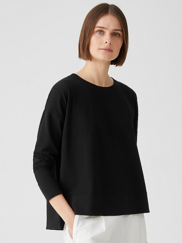 Traceable Organic Cotton Jersey Crew Neck Top