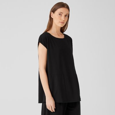 Traceable Organic Cotton Jersey Jewel Neck Top
