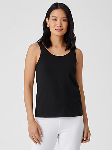 Organic Cotton Jersey Scoop Neck Tank