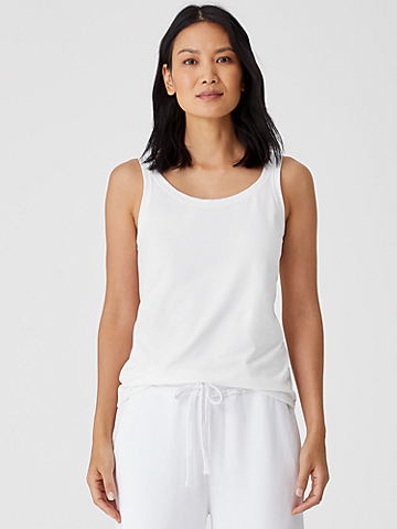 Traceable Organic Cotton Jersey Scoop Neck Tank