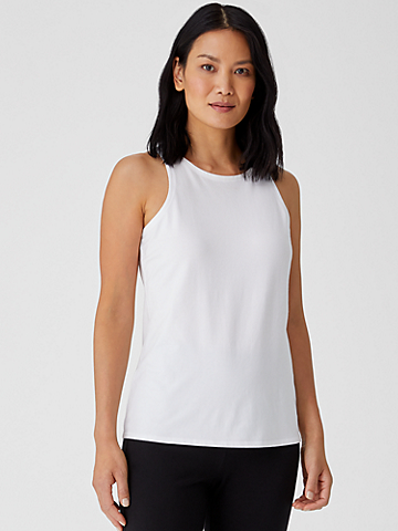 Organic Cotton Jersey Round Neck Tank