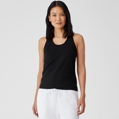 Organic Cotton Jersey Racer-Back Tank