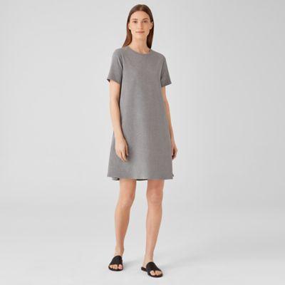Heathered Organic Cotton Crew Neck Dress