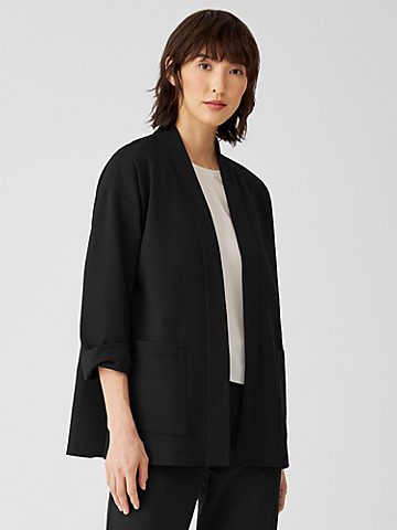 Organic Cotton Ponte Jacket