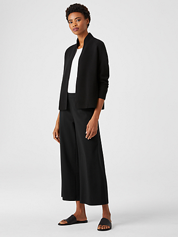 Organic Cotton Ponte Wide-Leg Pant