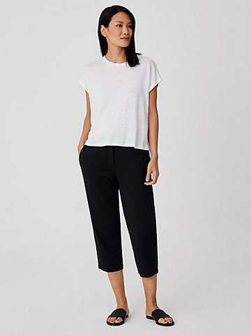 Organic Cotton Ponte Tapered Pant