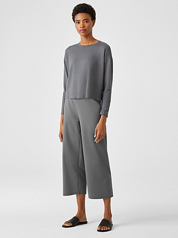 Organic Cotton Ponte Straight Pant