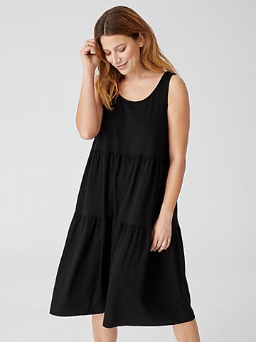 Organic Handkerchief Linen Tiered Dress