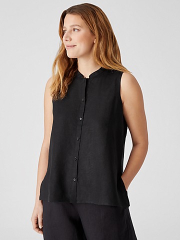 Organic Handkerchief Linen Sleeveless Shirt