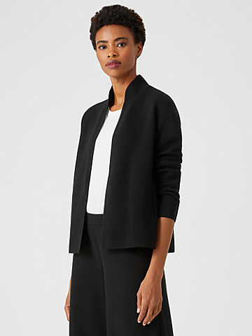 Silk & Organic Cotton Interlock Shaped Jacket