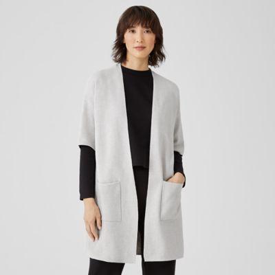 Organic Cotton Silk Elbow-Sleeve Cardigan