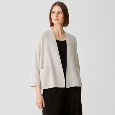 Organic Linen Cotton Twist Cardigan