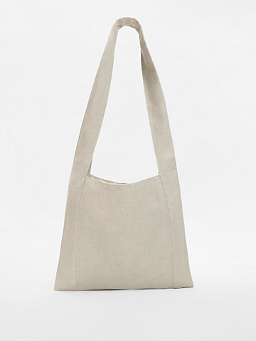 Organic Linen Shopper Tote