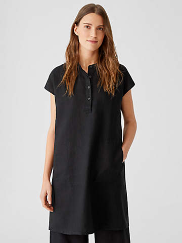 Organic Linen Shirtdress